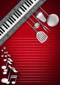 Music and Food - Menu Design — Stock Photo