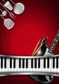 Music and Food - Menu Design — Foto de Stock