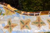 Ceramic Bench Park Guell - Barcelona Spain — Stock Photo