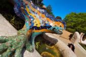 Mosaic Salamander - Park Guell - Barcelona — Stock Photo