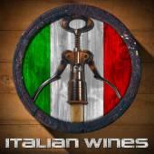 Italian Wines - Wooden Barrel — Stock Photo