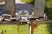 Gate Closed by Chain — Stock Photo