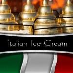 Постер, плакат: Italian Ice Cream Menu