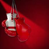 Red and White Boxing Gloves — Stock Photo