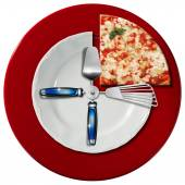 Pizza Time Concept — Stock Photo