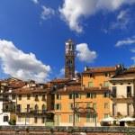 Houses and Lamberti Tower - Verona Italy — Stock Photo #56211503