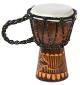 African Djembe Drum Isolated on White — Stock Photo