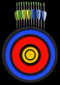 矢印とターゲット — ストック写真