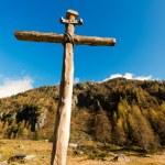 Wooden Cross - Italian Alps — Stock Photo #57302323