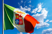 Italian Nautical Flag on Blue Sky — Stock Photo