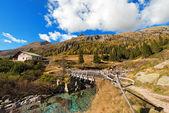 Wooden Bridge - Adamello Trento Italy — Stock Photo