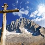 Wooden Cross - Italian Alps — Stock Photo #58155137