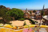 парк гуэль в барселоне - барселона испания — Стоковое фото