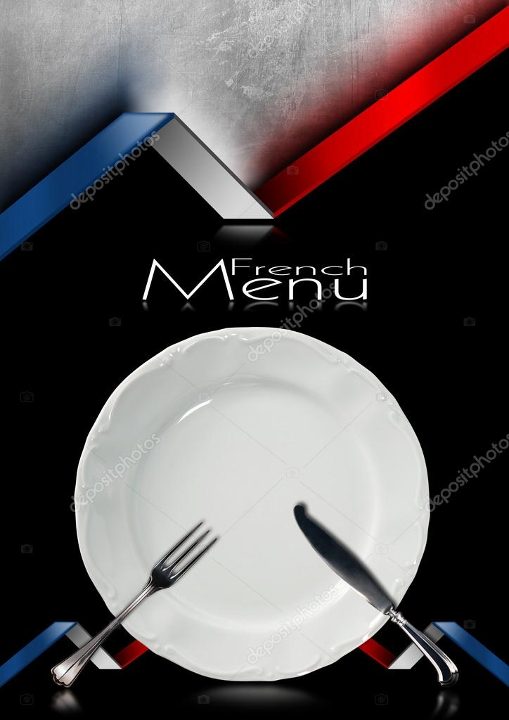 French Menu Template Template For a French Food Men