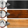 Set of Kitchen Banners with Arrows — Stock Photo #60036057