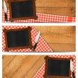 Постер, плакат: Set of Kitchen Banners with Blackboard