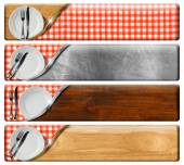 Set of Kitchen Banners with clipping path — Stock Photo