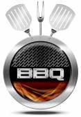 Bbq Symbol - Barbecue Icon — Stock Photo