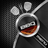 Barbecue Menu Design — Stock Photo