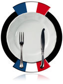 French Cuisine - Plate and Cutlery — Stock Photo