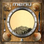 Seafood - Menu Template — Stock Photo
