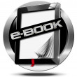 E-Book Symbol with Tablet Computer — Stock Photo #62423829