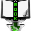 E-Book Symbol with Tablet Computer — Stock Photo #62526553