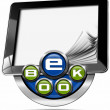 E-Book Symbol with Tablet Computer — Stock Photo #62868975