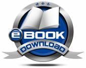 E-Book Download - Metallic Icon — Stock Photo