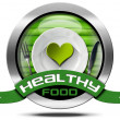 Healthy Food - Metal Icon — Stock Photo #64038645