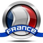 France Flag - Metal Icon — Stock Photo #65254005