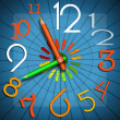 School Time - Colorful Clock — Foto de Stock   #65618943