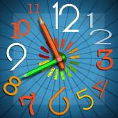 School Time - Colorful Clock — Stock Photo
