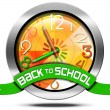 Back to School - Metal Icon — Foto de Stock   #65763597