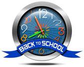 Back to School - Metal Icon — Stock Photo