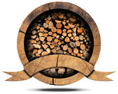 Lumber Industry - Wooden Icon — Stock Photo