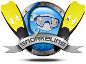 Snorkeling - Metal Icon — Stock Photo