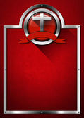 Red and Metal Christian Background — Stock fotografie