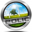 Eolic Energy - Metal Icon — Stock Photo #67300955