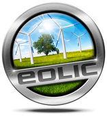 Eolic Energy - Metal Icon — Stock Photo
