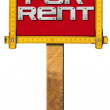 House For Rent Sign - Wooden Meter — Stock fotografie #69189867