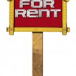 House For Rent Sign - Wooden Meter — Fotografia Stock  #69193489