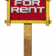 House For Rent Sign - Wooden Meter — Photo #69193489