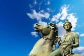Statue of Pollux - Torino Italy — Zdjęcie stockowe