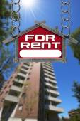 House For Rent Sign - Metallic Meter — Stock Photo