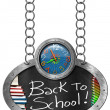 Back to School - Blackboard with Chain — Foto de Stock   #72644985
