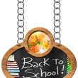Back to School - Blackboard with Chain — Foto de Stock   #72649549