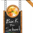Back to School - Blackboard with Chain — Foto de Stock   #72651675