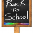 Back to School - Sign with Blackboard — Foto de Stock   #72655319
