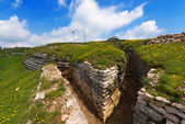 First World War - Trenches in Lessinia Italy — Stock Photo